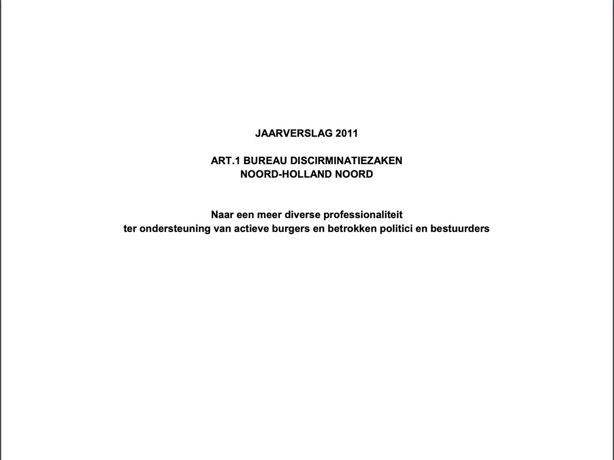 Art1. 1 NHN Jaarverslag 2011