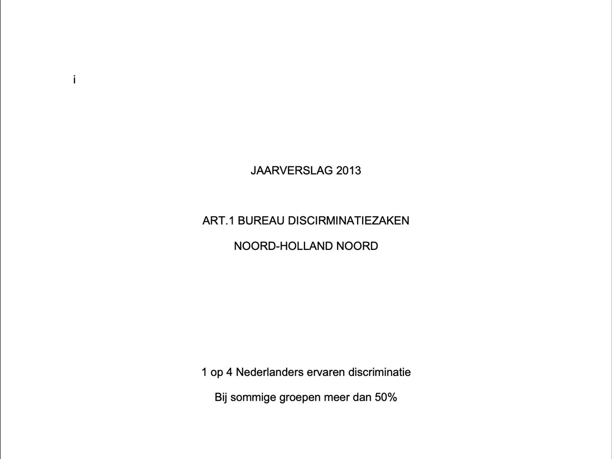 Art .1 NHN Jaarverslag 2013